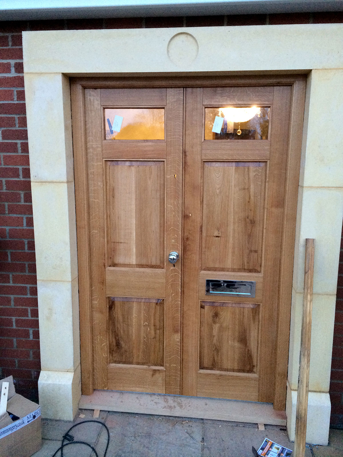 Solid Wood External Double Doors The Norfolk Carpenter